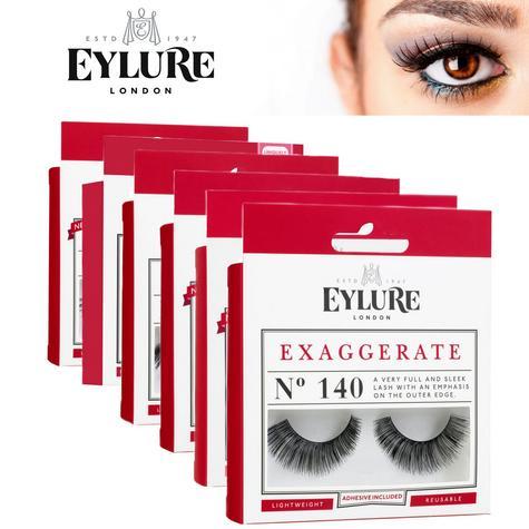 Eylure Exaggerate Lashes Ladies Reusable Adhesive Strip Volume False Eyelashers  Thumbnail 1