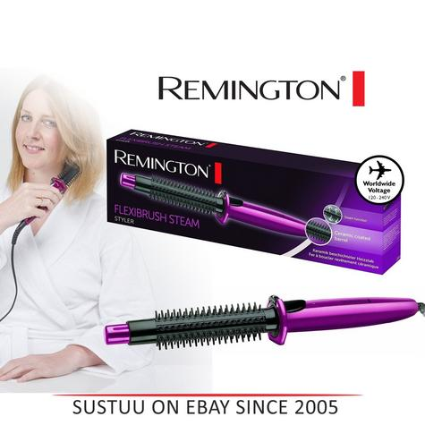 Remington Flexibrush Hot Air Steam Hair Brush Curl Ceramic Hair Styler CB4N New! Thumbnail 1