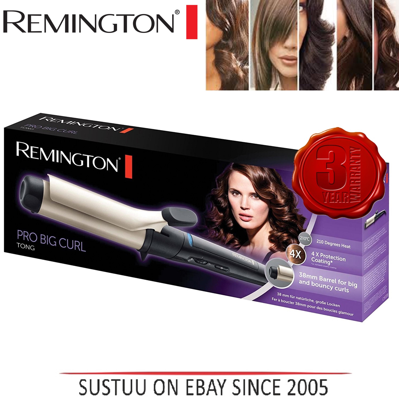 Remington Pro Big Curl Anti static Ceramic Curling Tong & Hair Styling Wand New