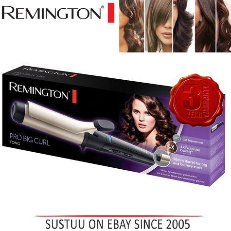 Remington Pro Big Curl Anti static Ceramic Curling Tong & Hair Styling Wand New Thumbnail 1