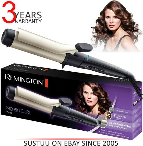Remington Pro Big Curl Anti static Ceramic Curling Tong & Hair Styling Wand New Thumbnail 1