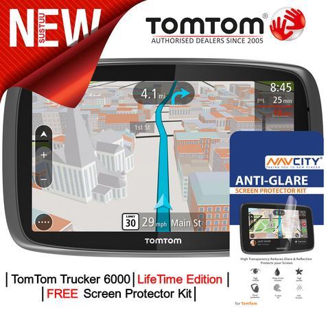 TomTom Trucker 6000 LIFETIME UK & Full Europe Maps Edition?GPS SatNav?Traffic Thumbnail 1