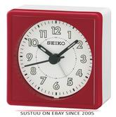 Seiko QHE083Q Analogue Bedside Beep Alarm Clock With Snooze Function - Red