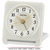 Seiko QHT016W Ascending Beep Alarm Clock With Light & Snooze Function - White