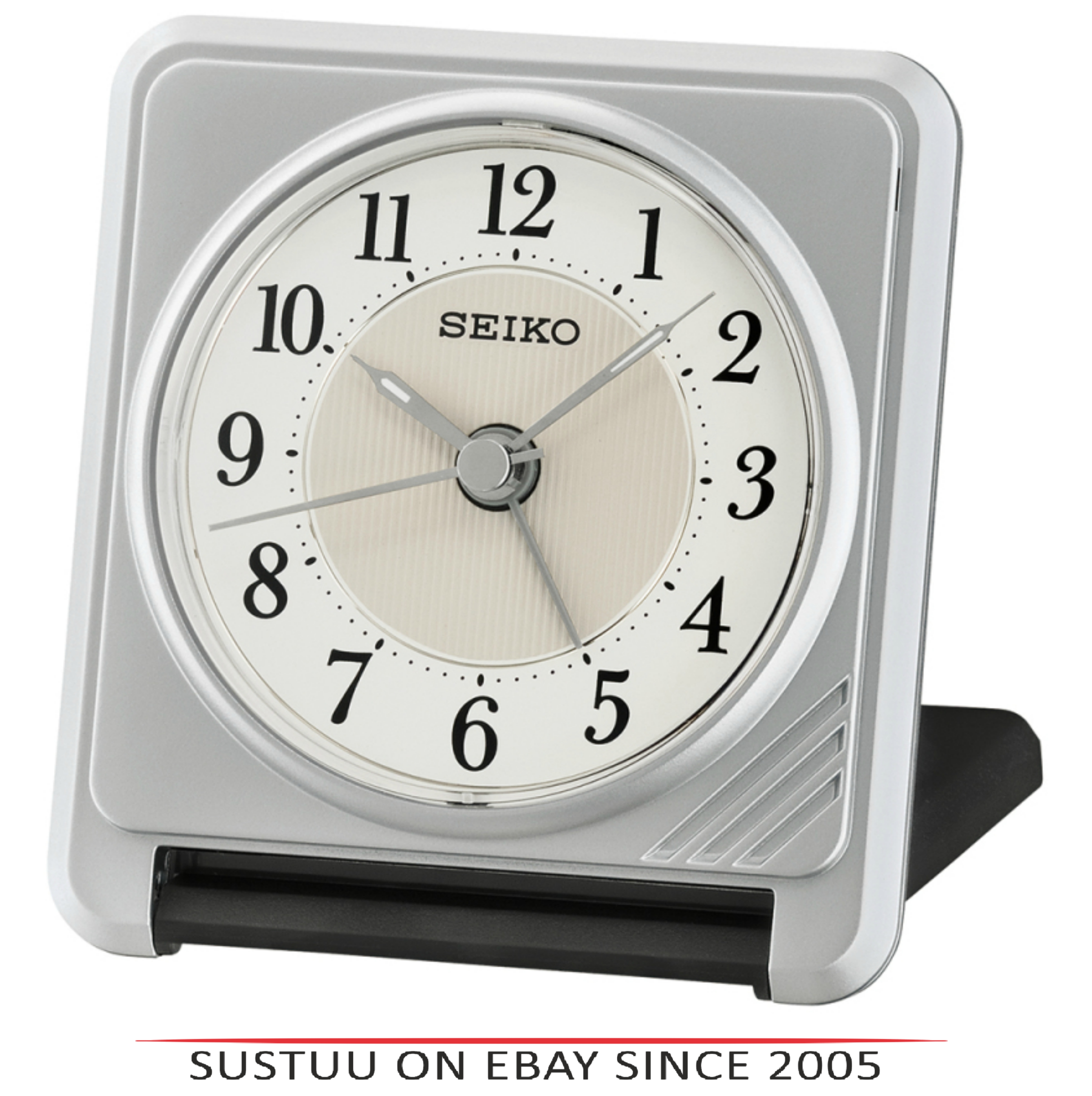 Seiko QHT016S Ascending Beep Alarm Clock With Light & Snooze Function - Silver