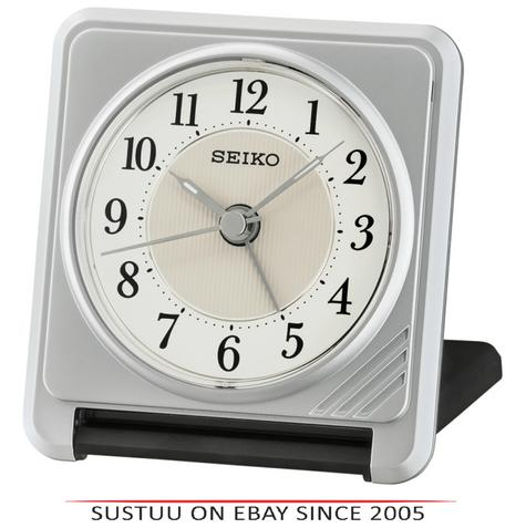 Seiko QHT016S Ascending Beep Alarm Clock With Light & Snooze Function - Silver Thumbnail 1