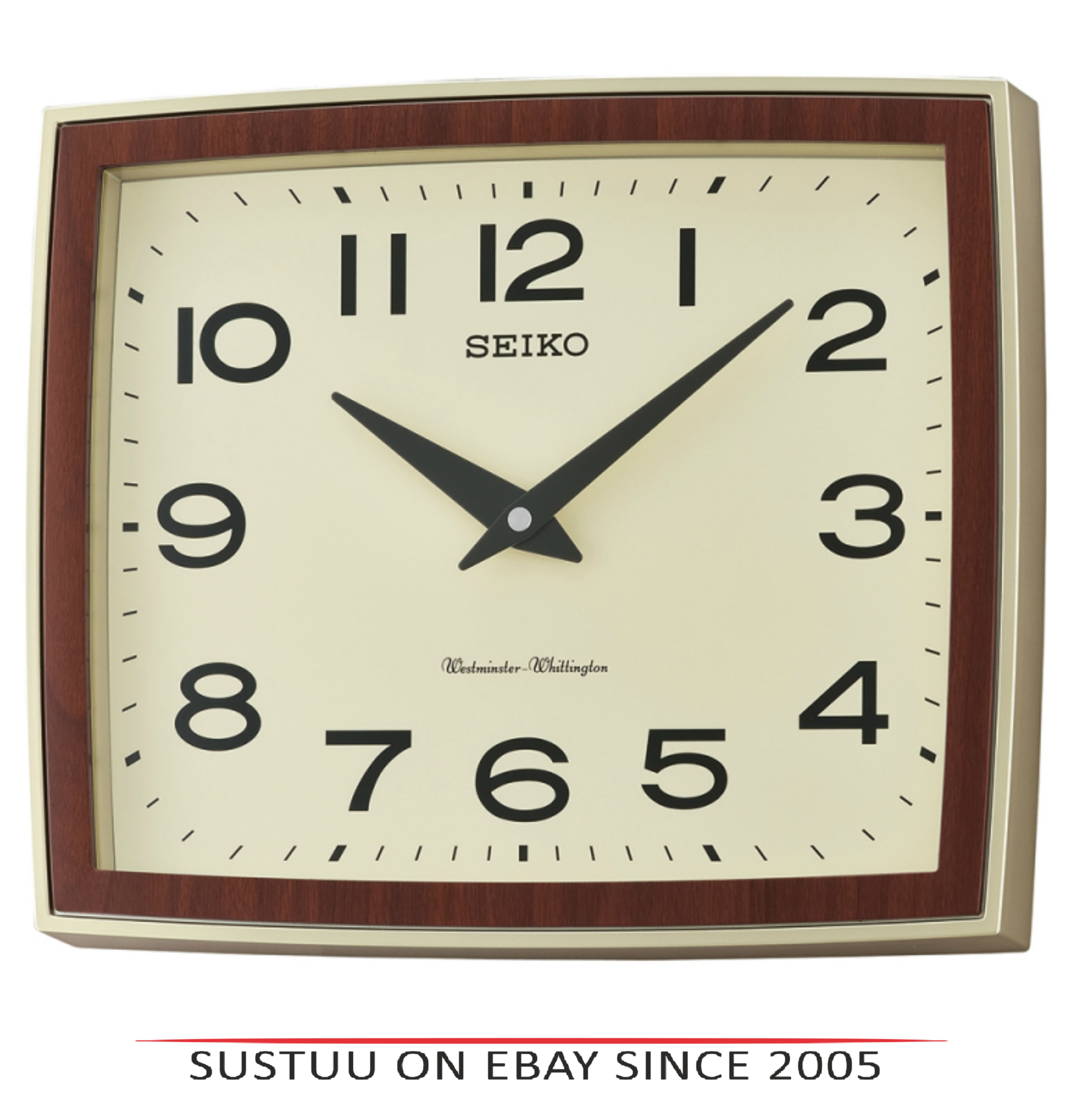 Seiko QXD211S Westminster/Whittington Dual Chime Arabic Wall Clock - Brown Case
