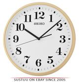 Seiko QXA697A Quiet Sweep Second Hand Wall Clock-Light Brown Case With Whiteface