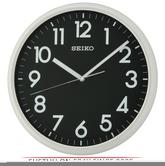Seiko QXA694N LumiBrite Analogue Wall Clock - Light Grey with Black Face