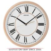 Seiko QXA665P Roman Numeral Round Wall Clock|Sweep Second Hand|Rose Gold Case