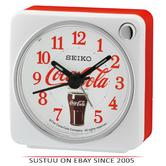 Seiko QHE905W Coca-Cola Beep Alarm Clock With Arabic Numerals/Snooze/Light/White