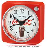 Seiko QHE905R Coca-Cola Beep Alarm Clock With Arabic Numerals/Snooze/Light/Red