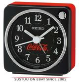 Seiko QHE905K Coca-Cola Beep Alarm Clock With Arabic Numerals/Snooze/Light/Black
