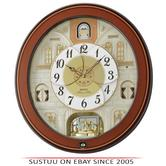Seiko QXM368B Melody In Motion Analouge Wall Clock With Piano Finish Wooden Case