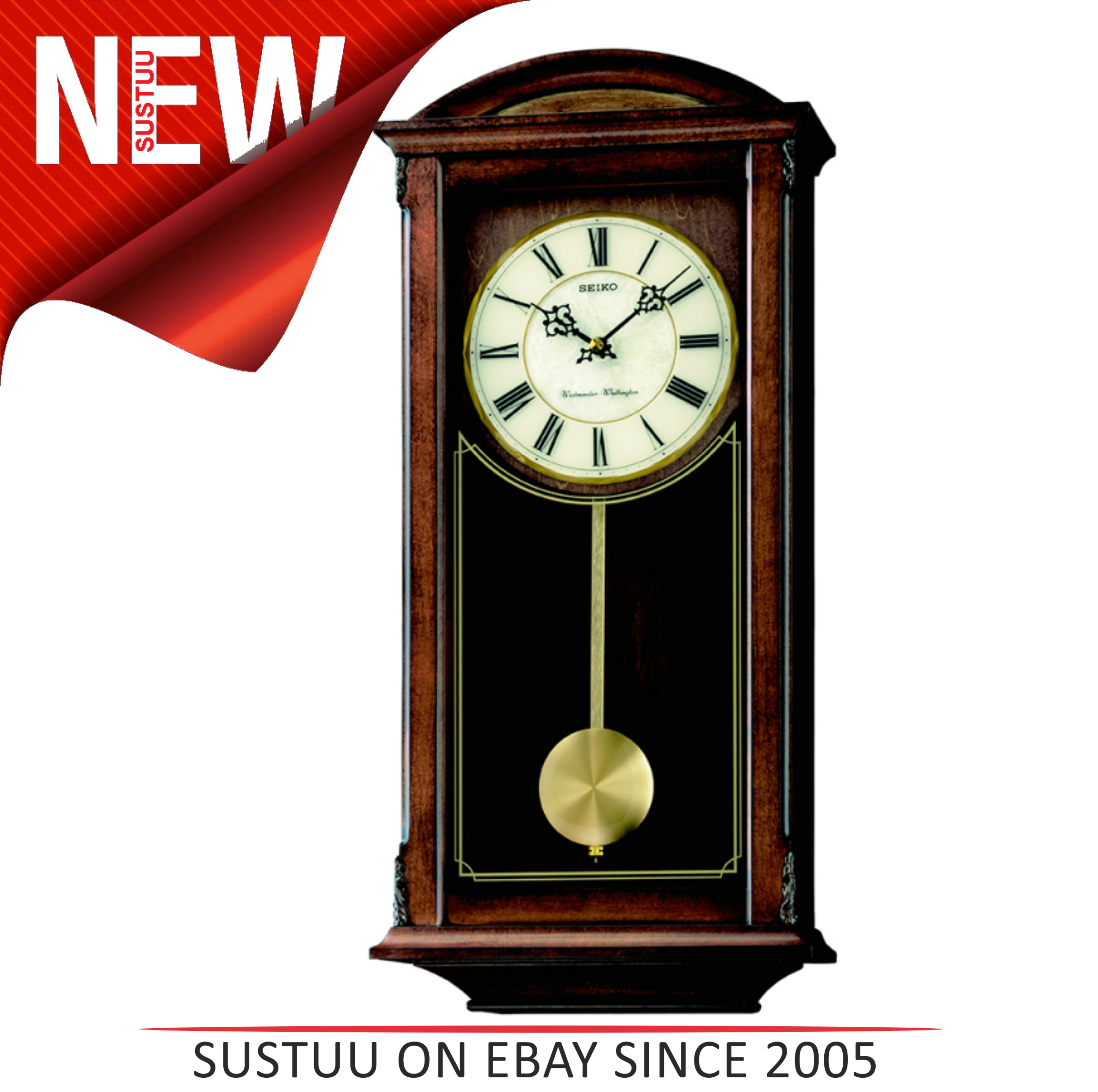 Seiko Analogue Pendulum Wall Clockwestminster Whittington Chimes
