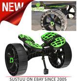 C-Tug Kayak Cart with Puncture-Free SandTrakz Wheels - Green