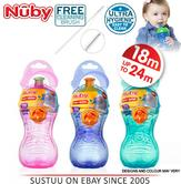 Nuby Free Flow Pop-Up Sipper Cup Toddler Non-Spill Sport Style Hard Spout Beaker