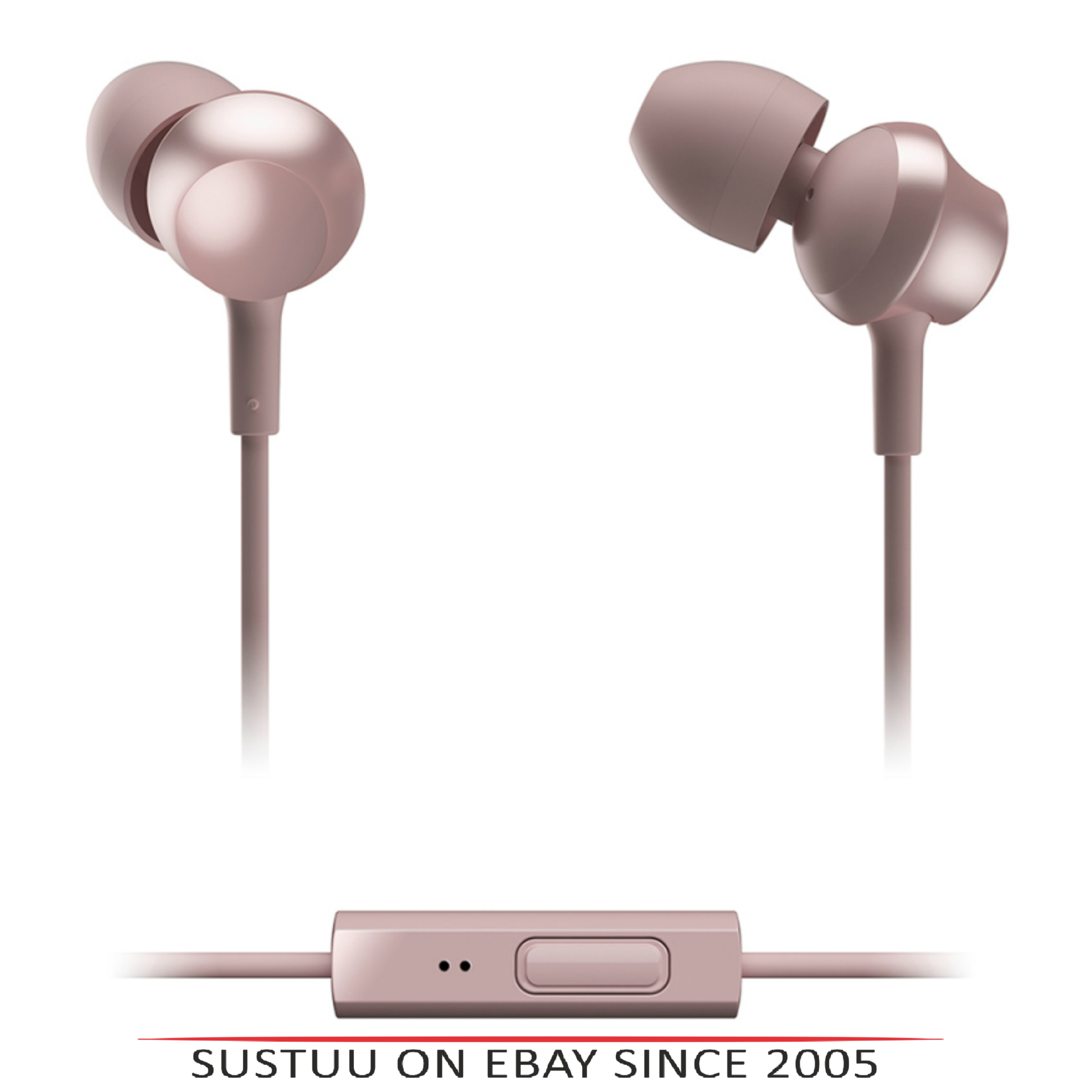 Panasonic RPTCM360EP  In-Ear 9.0mm Unit Headphones With Remote & Mic-Rose Gold