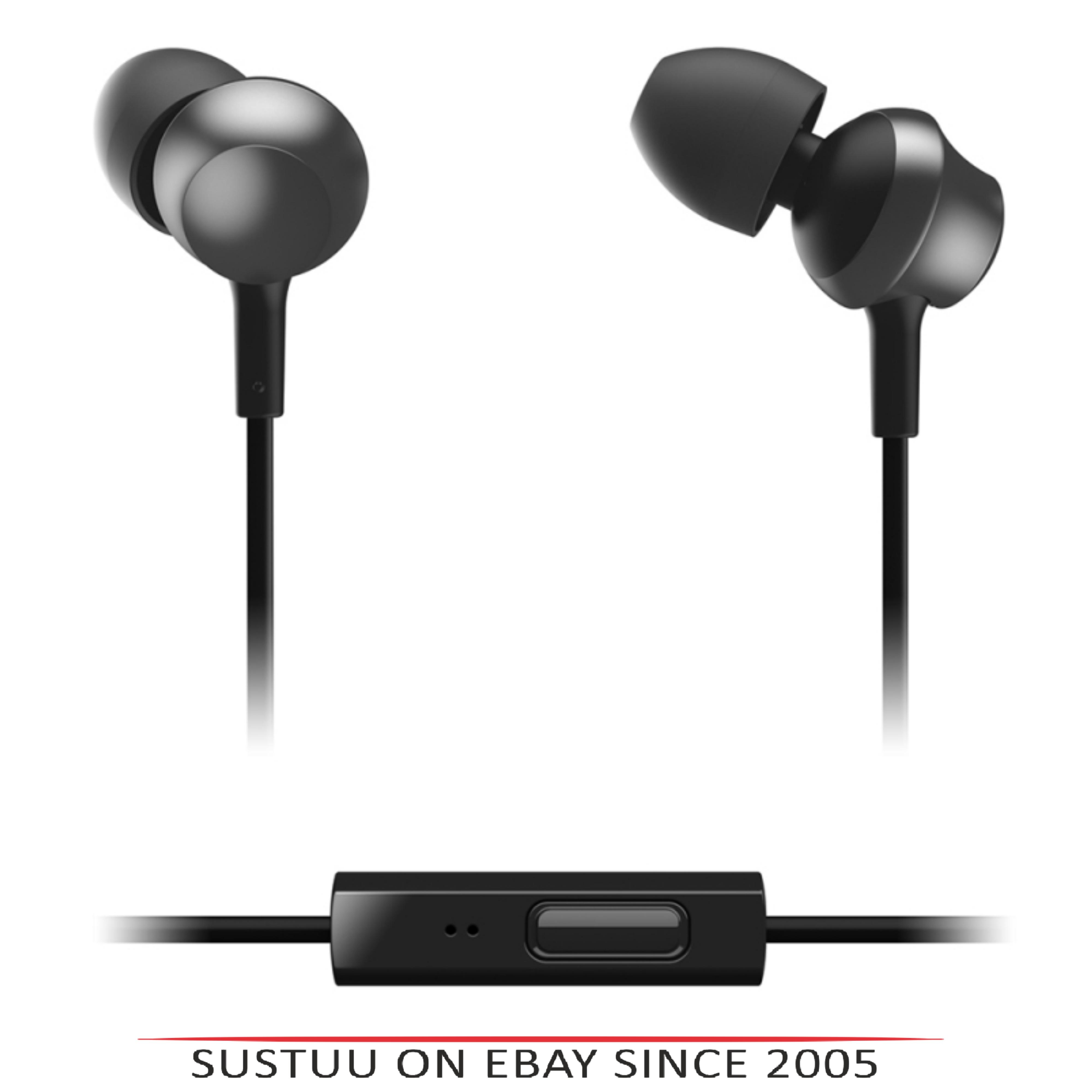 Panasonic RPTCM360EK  In-Ear 9.0mm Unit Headphones With Remote & Mic - Black
