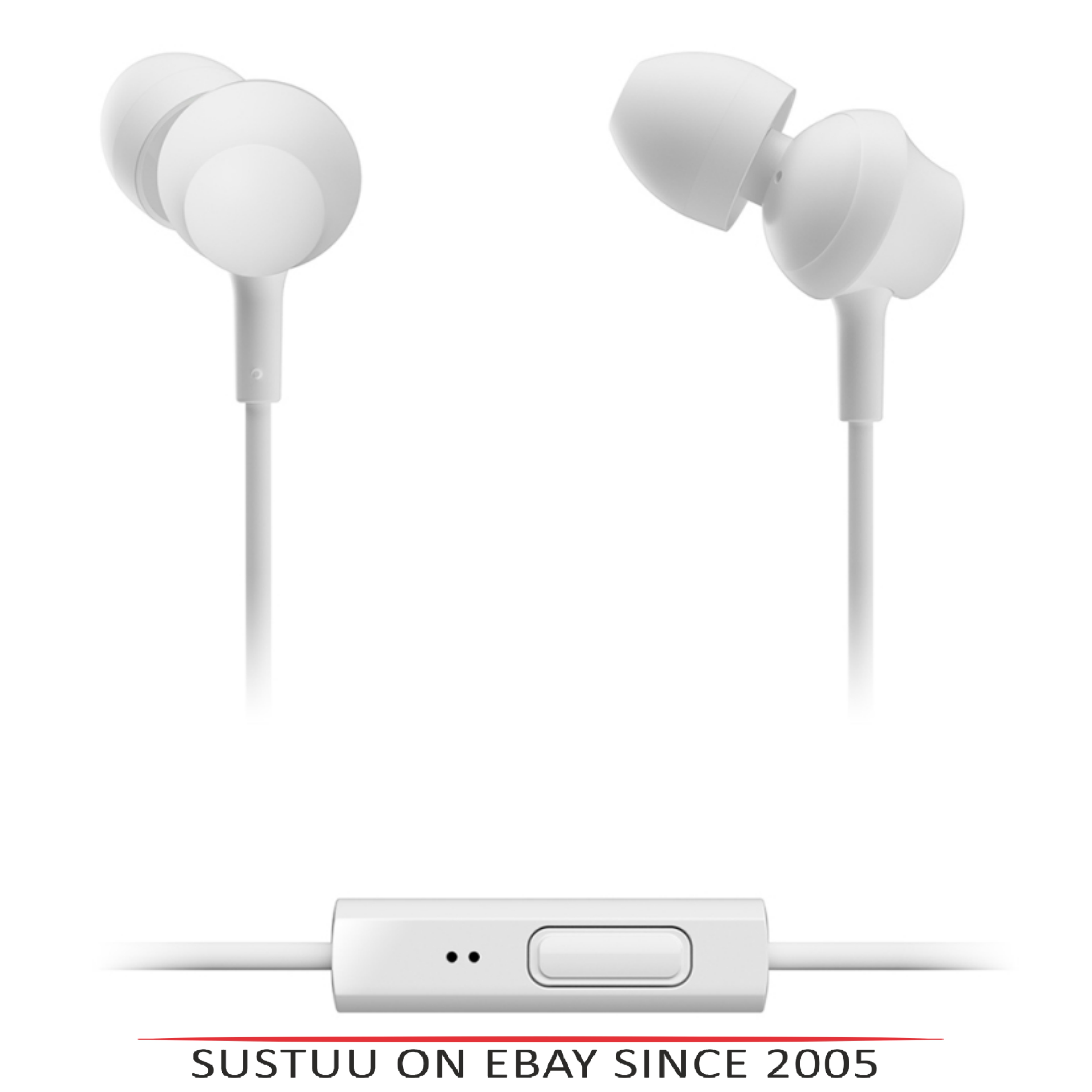 Panasonic RPTCM360EW  In-Ear 9.0mm Unit Headphones With Remote & Mic - White