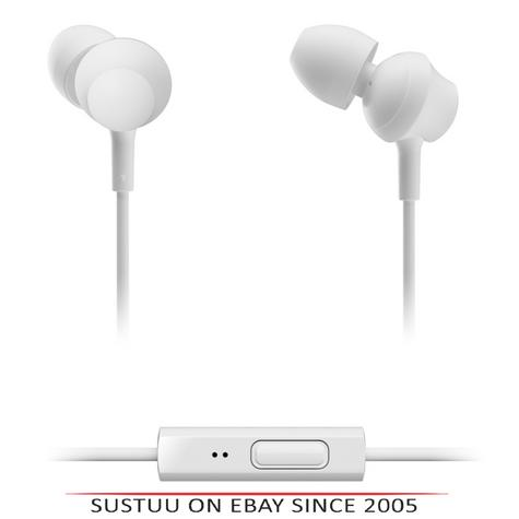 Panasonic RPTCM360EW  In-Ear 9.0mm Unit Headphones With Remote & Mic - White Thumbnail 1