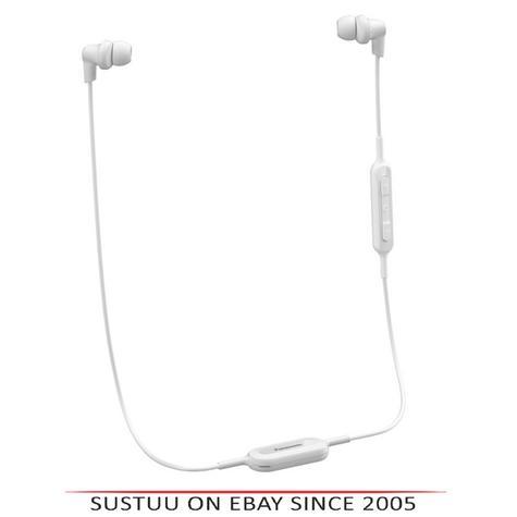 Panasonic RPNJ300BEW Wireless Ergo-Fit Bluetooth In Ear Buds Earphones-White-New Thumbnail 1