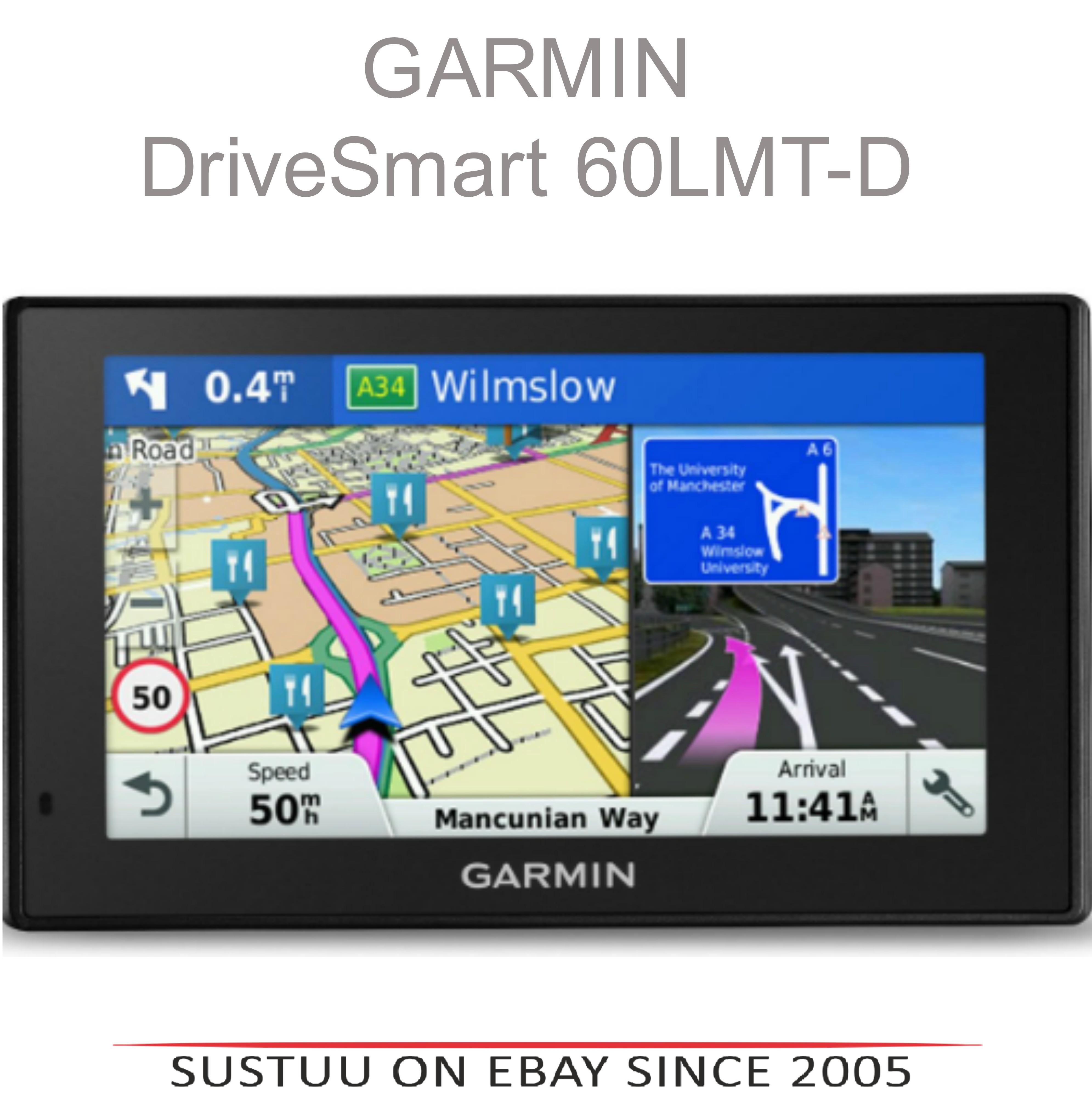 "Garmin DriveSmart 60LMT-D|6"" GPS SatNav|Bluetooth|Lifetime UK-Europe Map+Traffic"