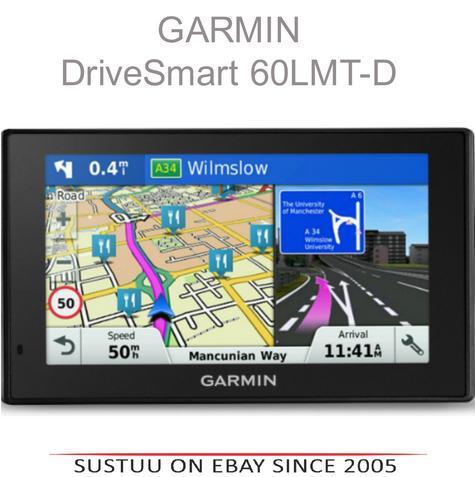 "Garmin DriveSmart 60LMT-D|6"" GPS SatNav|Bluetooth|Lifetime UK-Europe Map+Traffic Thumbnail 1"