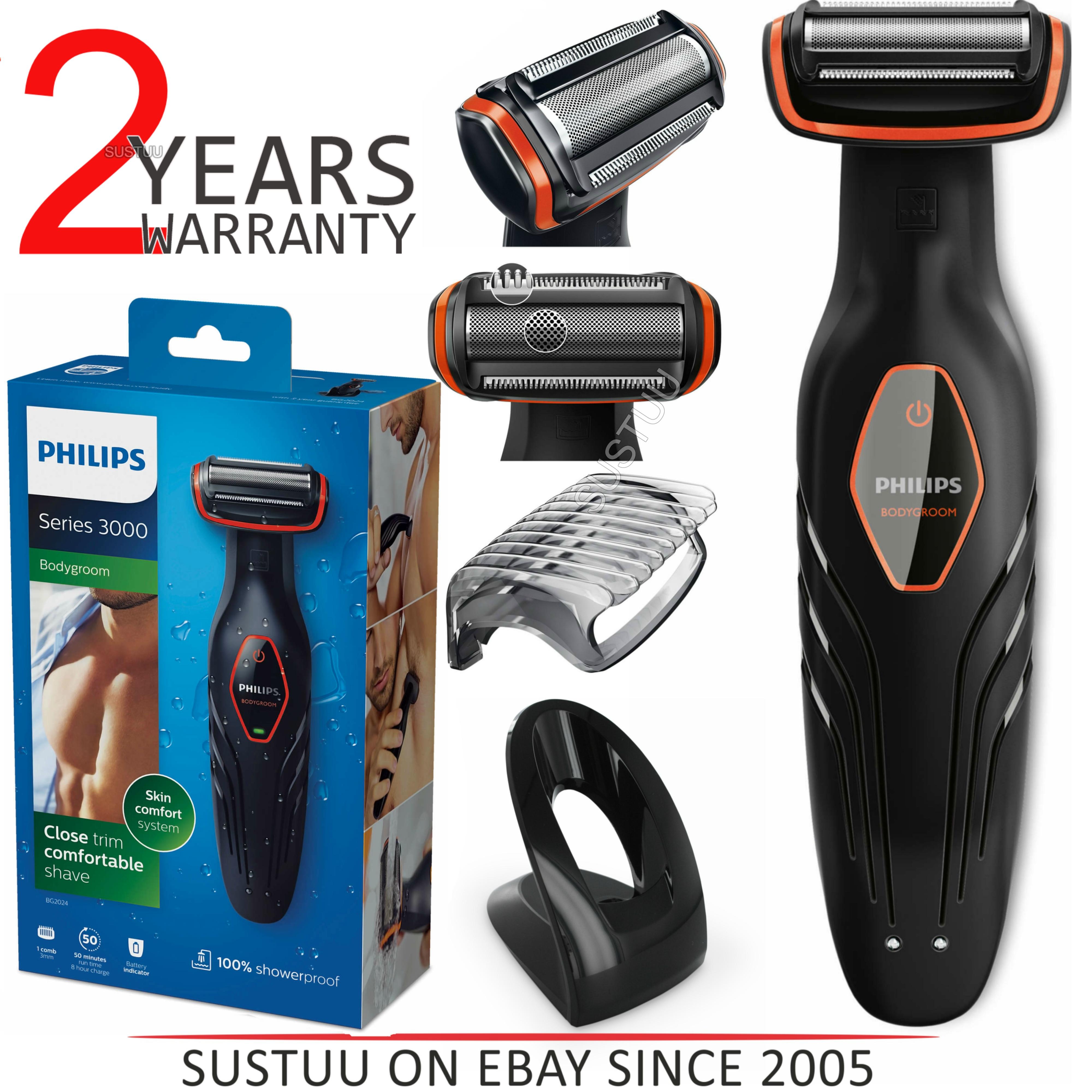 Philips Series 3000?Showerproof?Body Groomer?Hair Trim Cordless Shaver?BG2024/15
