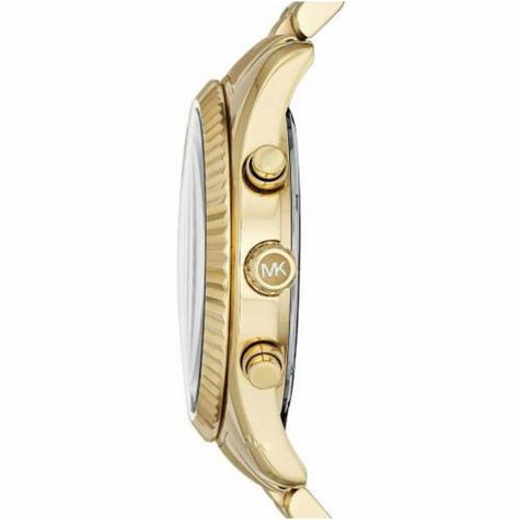 Michael Kors Gent's Lexington Chronograph Gold Tone Designer Round Watch-MK8286 Thumbnail 3