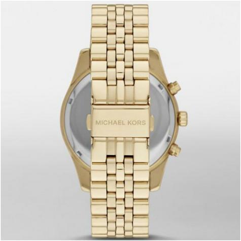 Michael Kors Gent's Lexington Chronograph Gold Tone Designer Round Watch-MK8286 Thumbnail 4