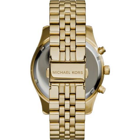 Michael Kors Gent's Lexington Chronograph Gold Tone Designer Watch MK8281 Thumbnail 3