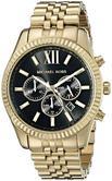 Michael Kors Gent's Lexington Chronograph Gold Tone Designer Round Watch-MK8286