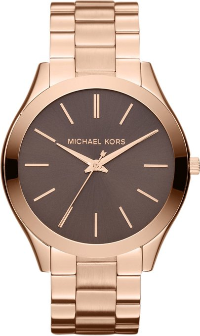 Michael Kors Ladies' Runway Designer Rose Gold Tone Bracelet Watch MK3181