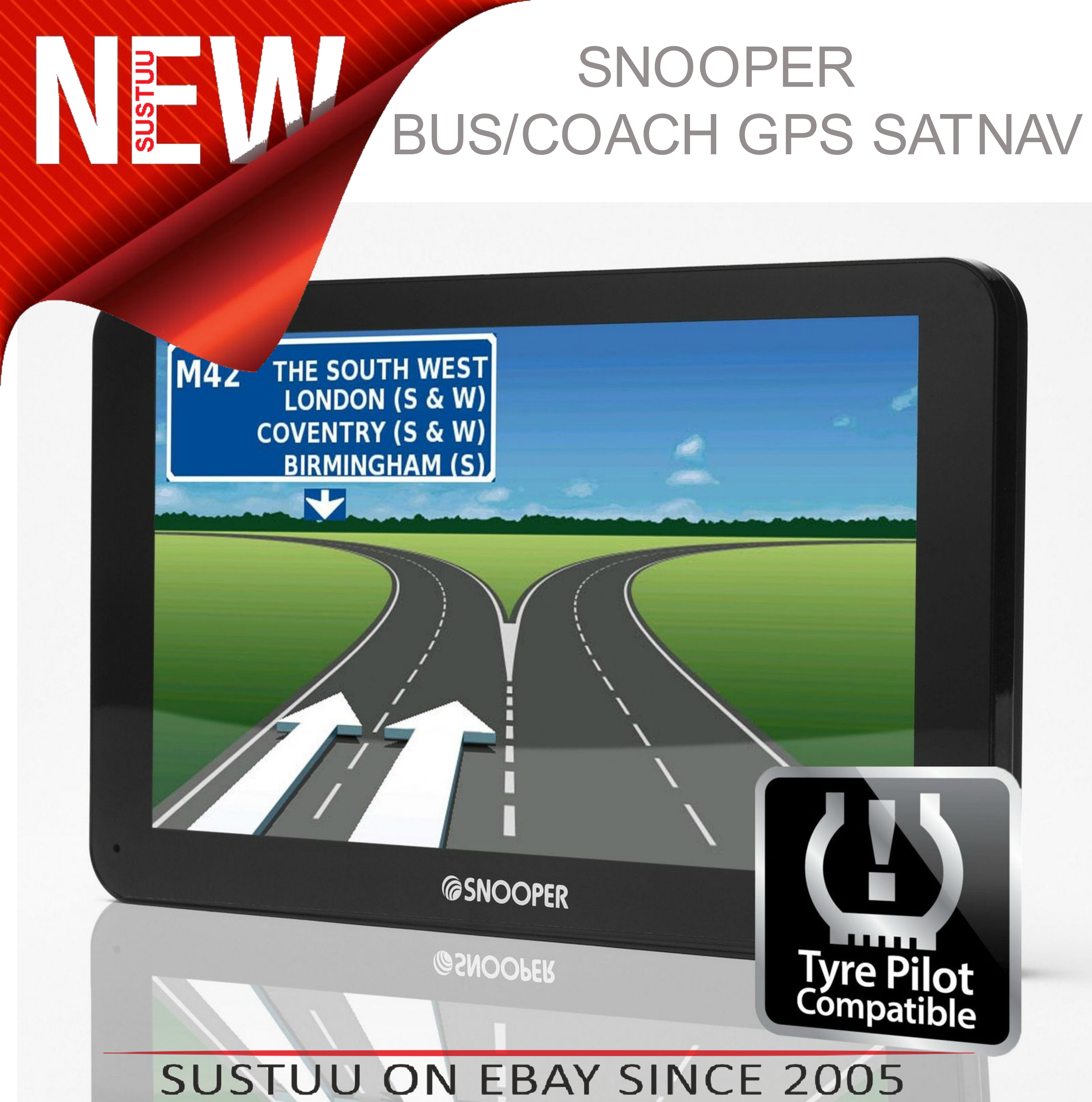 Snooper Bus & Coach S6810 7? GPS Sat Nav FREE LIFETIME UK/EUROPE Maps & Traffic