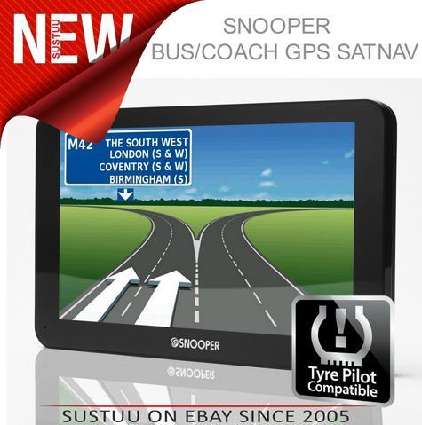 Snooper Bus & Coach S6810 7? GPS Sat Nav FREE LIFETIME UK/EUROPE Maps & Traffic Thumbnail 1