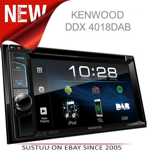 "Kenwood DDX 4018DAB Double Din 6.2"" Car Stereo DVD/Bluetooth/Usb & DAB + Radio Thumbnail 1"