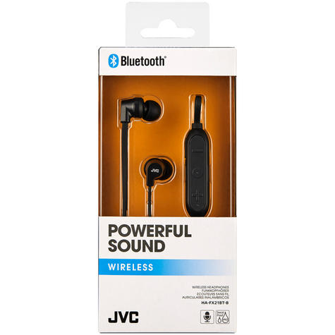 JVC HAFX21BTBE Powerful Sound Wireless Bluetooth In Ear Headphones - Black Thumbnail 3