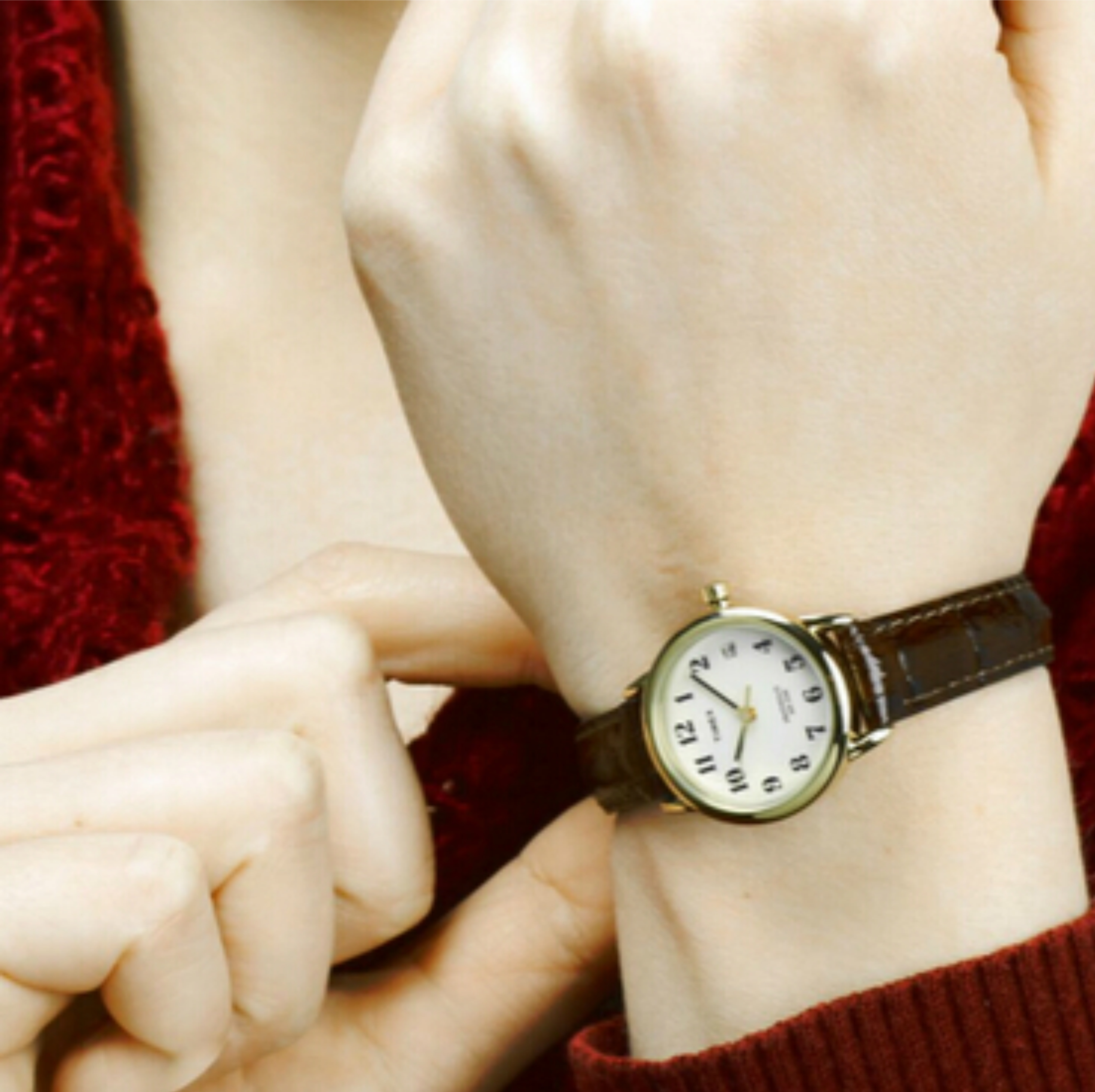 ea065d133 Sentinel Timex T20071 Easy Reader Analouge Ladies Watch│Leather Strap│Night  Light│Brown│