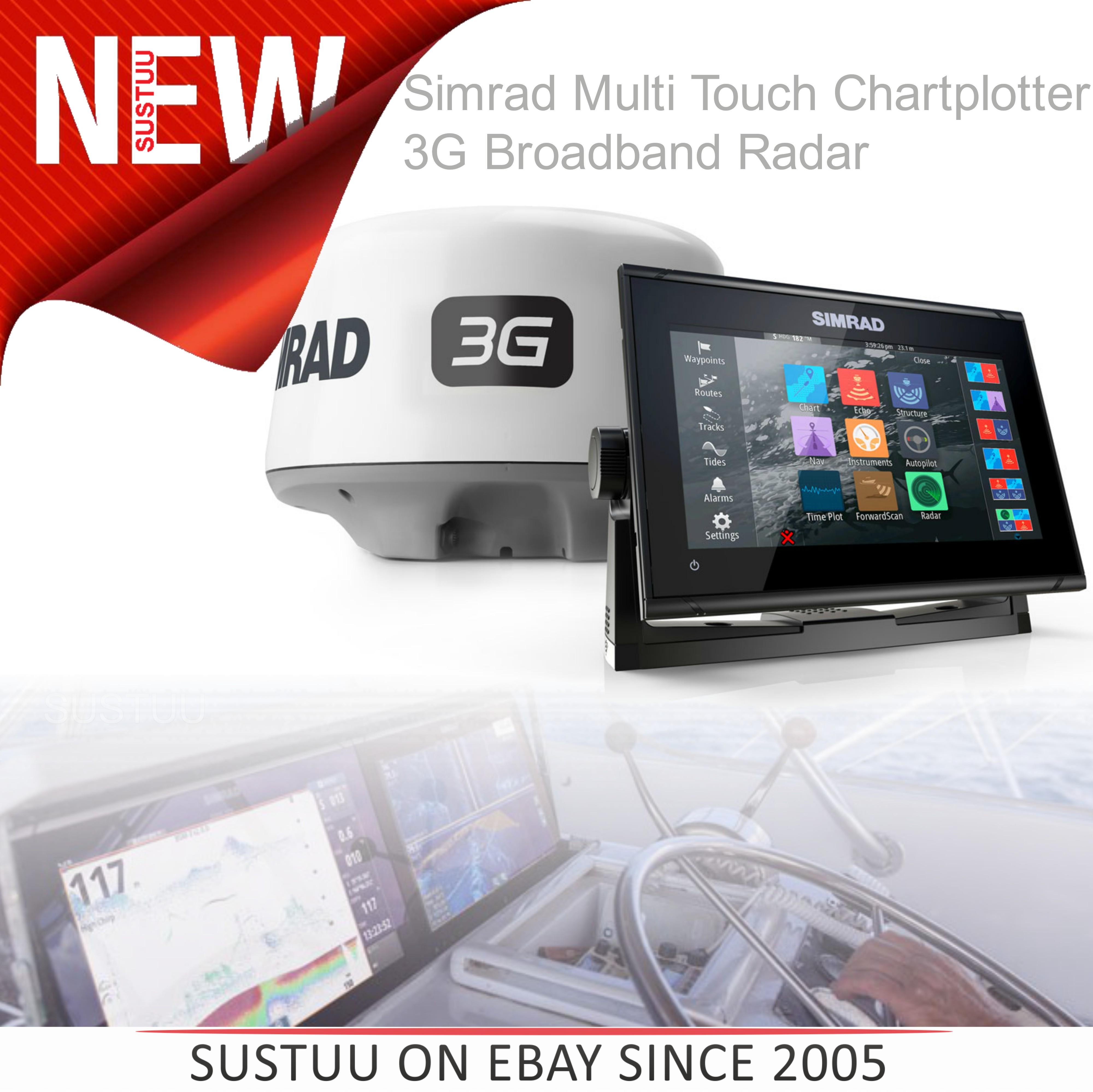 Simrad GO9 xse Multi Touch Chartplotter Marine 3G Brodband