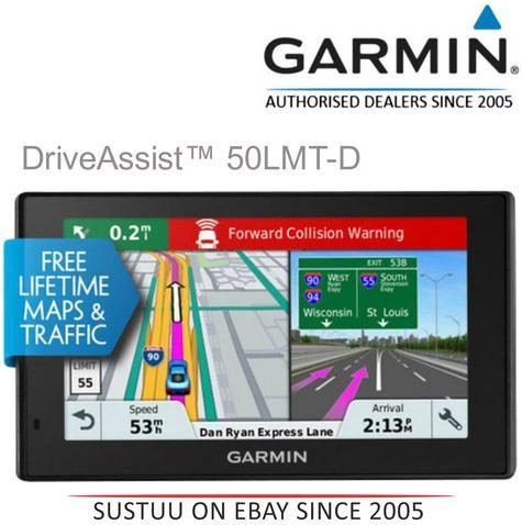 "Garmin DriveAssist 50LMT-D EU|5"" GPS SatNav + Dashcam|Bluetooth|Driver Alerts|Handsfree-Voice Navigation Thumbnail 1"