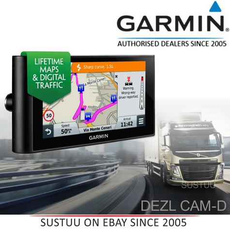 "Garmin DezlCam LMT-D?6""Truck HGV GPS SatNav+Dash Cam?FREE Lifetime UK-Europe Map Thumbnail 1"