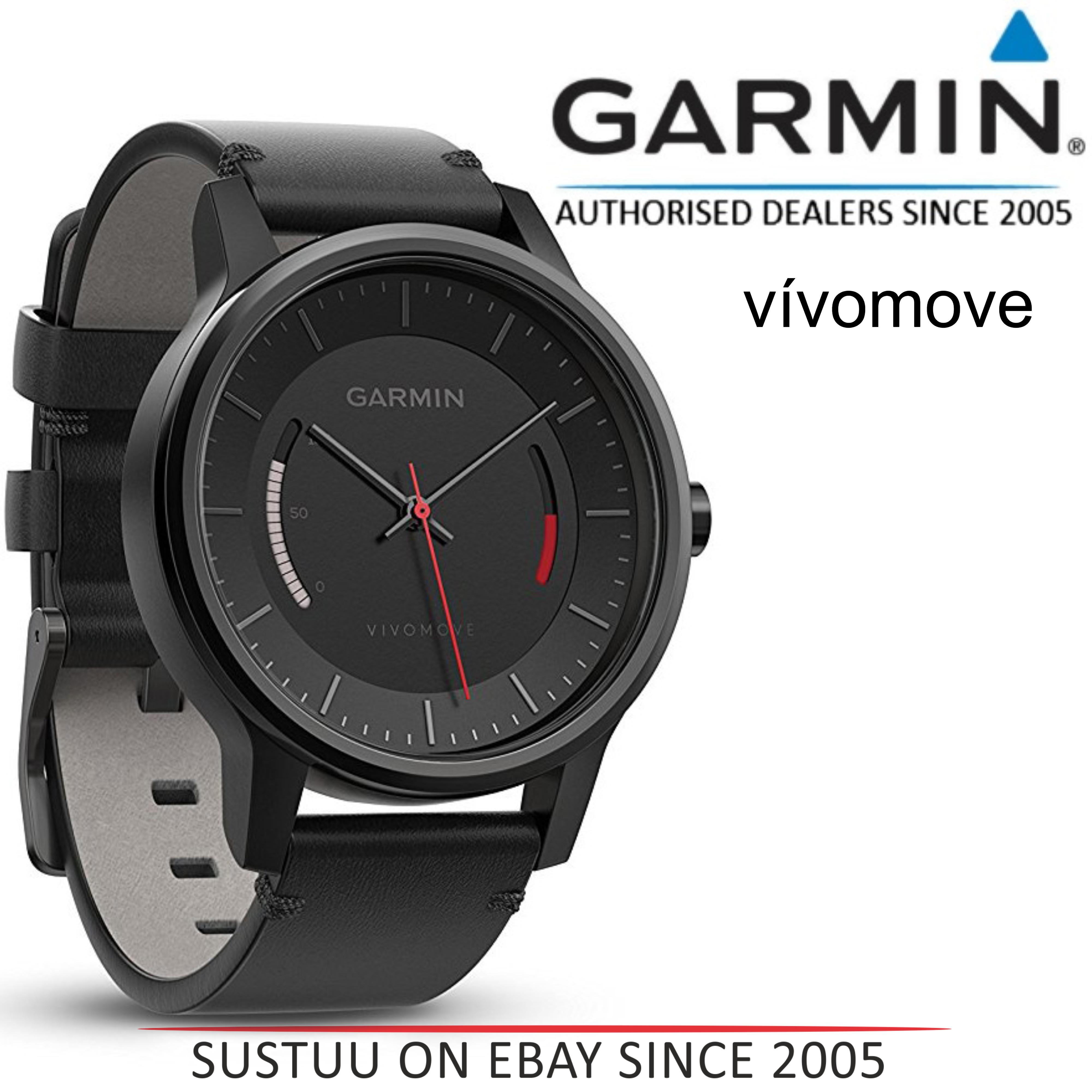 8f5a25b9ecb Sentinel Garmin Vivomove Classic Smart Watch│Activity Tracker│Sleep  Monitor│Black Leather