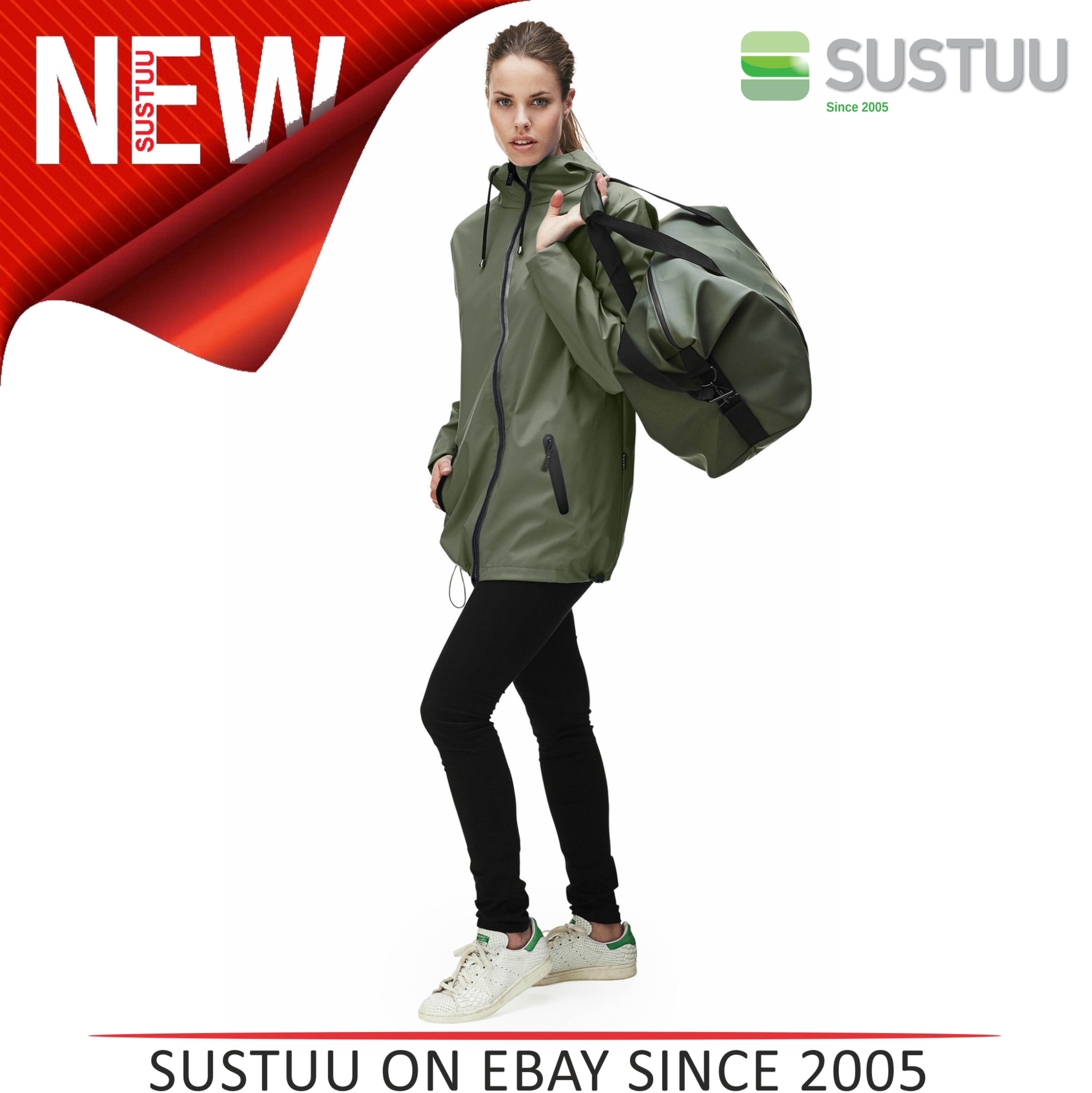 Rains Womens Premium Black Waterproof Anorak Jacket NEW