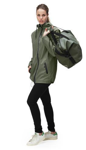 Rains Womens Premium Black Waterproof Anorak Jacket NEW Thumbnail 2