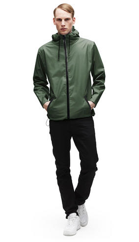 Rains Mens Premium Green Waterproof Anorak Jacket xs/s NEW Thumbnail 2