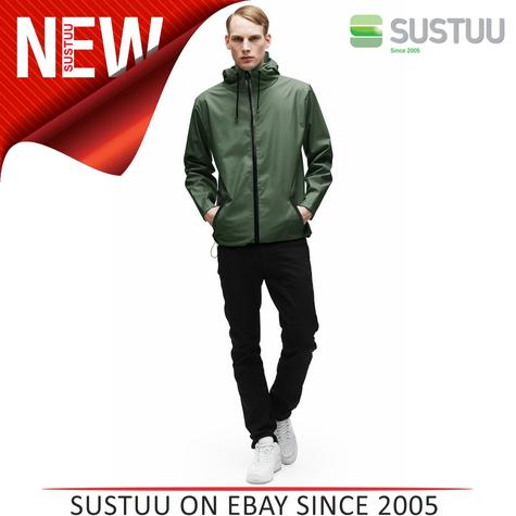 Rains Mens Premium Green Waterproof Anorak Jacket xs/s NEW Thumbnail 1