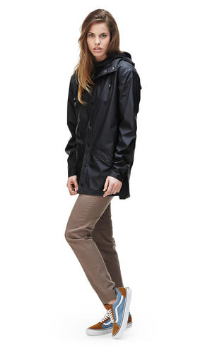 Rains Womens Premium Black Waterproof Anorak Jacket xs/s NEW Thumbnail 2