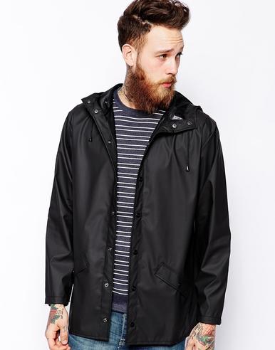 Rains Mens Premium Black Waterproof Anorak Jacket xs/s NEW Thumbnail 2