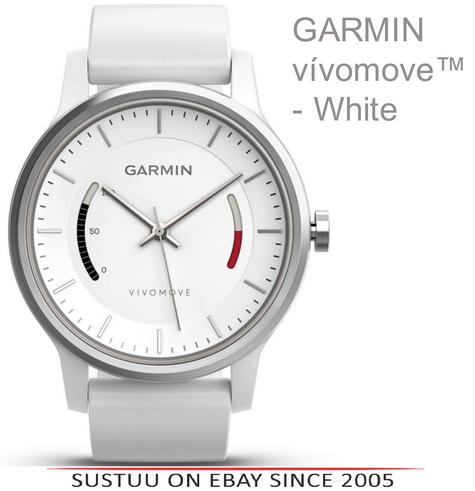 Garmin Vivomove|Analog Watch|Activity Tracker|Sleep Monitor|Sports Band|WHITE  Thumbnail 1